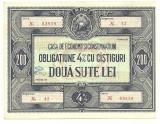 OBLIGATIUNE 200 LEI RPR