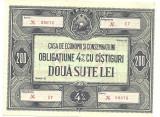 OBLIGATIUNE 200 LEI RPR 3