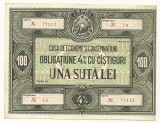 OBLIGATIUNE 100 LEI RPR