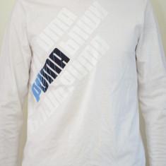 Tricou copii Puma Graphic Ls Tee 813758, ORIGINAL, bumbac, alb, Unisex
