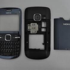 Vand Carcasa Nokia C3 Noua Completa Albastra Albastru - Negru