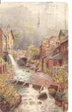 CPI (B2819) ANGLIA. MILL STREAM AMBLESIDE, EDITURA RAPHAEL TUCK SI FII, CIRCULATA 3.IUN.1920, STAMPILE, Europa, Printata
