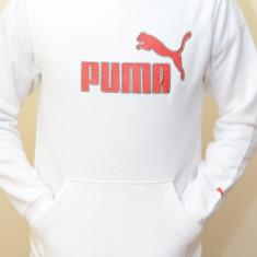 Hanorac dama Puma 811998 ORIGINAL, amestec bumbac, alb/rosu, marimi: numai L - LICHIDARE STOC, Marime: L