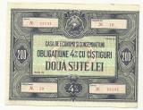 OBLIGATIUNE 200 LEI RPR 2