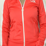 Bluza dama Puma Heroes T7 Track Jacket 557874, ORIGINALA, poliester, rosu, Marime: S