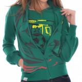 Bluza dama Puma AFRICA WOMENS JACKET 73679702, ORIGINALA, bumbac, verde, marimi: numai M - LICHIDARE STOC, Marime: M