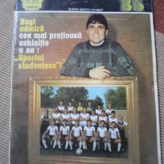 Revista Fotbal 1986 Sportul Studentesc Hagi lucescu sport