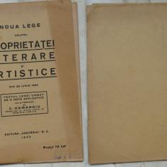 Noua lege asupra proprietatei literare si artistice din 1923 , Hamagiu , 1924