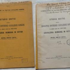 Cantea , Evolutia doctrinei cavaleriei române ( 1916 - 1926 ) , 1927 , autograf