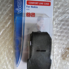 CS521 Husa telefon mobil Nokia 6060 Vivanco cu insertie piele
