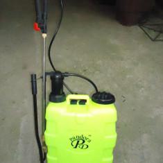 Pompa de stropit 20 L cu 2 tije una metalica telescopica pentru pomi si una fixa - Pompa pentru stropit