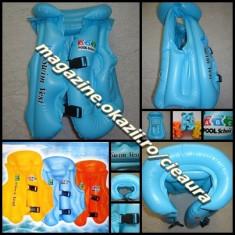 VESTA PVC NONTOXIC BLEU GONFLABILA INOT COPII SUPORT CAP GULER 3 CAMERE 2 VALVE - Snorkeling