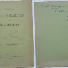 Sinescu , Despre numiri si inaintari in Magistratura , 1906 , circulata , timbru