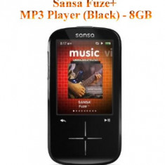 Sansa Fuze+ MP3 player Sandisk (Black) - 8GB, Negru