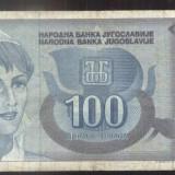 JUGOSLAVIA 100 DINARI1992-CIRCULATA-C34