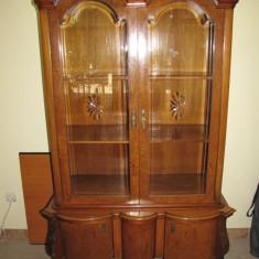 VITRINA VECHE LEMN MASIV BIEDERMEIR VIENA CCA 1880-1900 superba, Sifonier, Biedermeier, 1800 - 1899