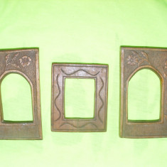 RAMA ICOANA LEMN, RAME pentru 3 ICOANE VECHI, SCULTURA IN LEMN, RAME ICOANE VECHISCULPTATE - Icoana pe lemn