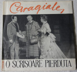 Disc Electrecord O scrisoare pierduta - I.L.Caragiale