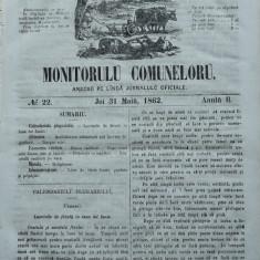 Principatele Unite , Monitorul comunelor , nr . 22 , Joi 31 Mai , 1862