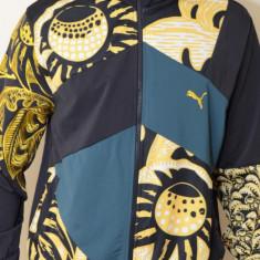 Jacheta barbati Puma 555623, ORIGINALA, poliester, negru/galben, marimi: numai M - LICHIDARE STOC, Marime: M