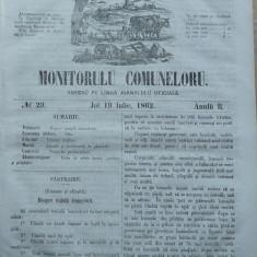 Principatele Unite , Monitorul comunelor , nr . 29 , Joi 19 Iulie , 1862