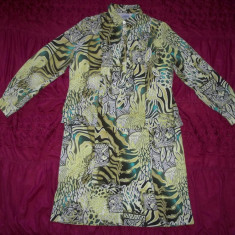 Rochie (bluza cu fusta integrate) DeRofa; marime 46: 58 cm bust, 119 cm lungime - Rochie de zi, Culoare: Din imagine, Lunga, Poliester