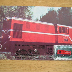 MX - LOCOMOTIVA INGUSTA - 120 ANI LINIA FERATA ORADEA CLUJ NAPOCA 1990, Romania de la 1950, Transporturi