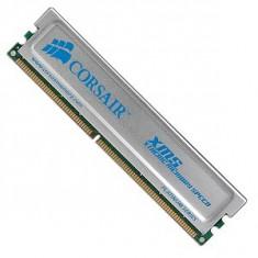 Memorii Desktop Corsair XMS 512 MB, DDR RAM, 400 MHz, DIMM 184-pin cu radiator din Aluminiu