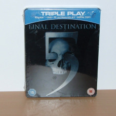 Film Bluray - Final Destination 5 Collector 's Edition ( STEELBOOK ) sigilat - Film actiune, Altele