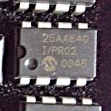 25AA640 -I/P - IC, EEPROM, 64KBIT, SERIAL, 1MHZ, DIP-8