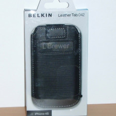 Vand / schimb Husa marca BELKIN, model Leather Tab 042 pentru iPhone 4 / 4S, noua ! - Husa Tableta