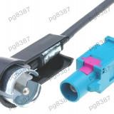 Adaptor antena radio, Audi, Fiat, Mercedes, Peugeot, Seat, Skoda, Volkswagen, FAKRA - ISO - 001044
