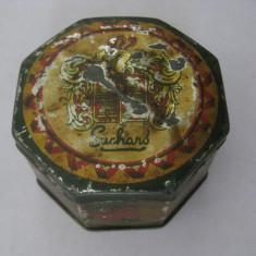 CUTIE METALICA PENTRU BOMBOANE SUCHARD DIN ANII 30 - Cutie Reclama