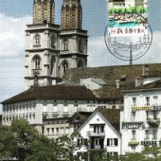 1208 - Elvetia carte maxima 1984