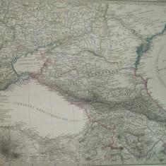 Harta Sudul Rusiei si Caucazul Gotha Justus Perthes 1867 de H. Stichart