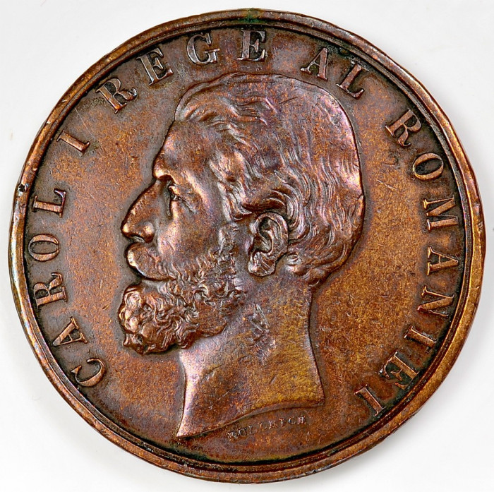 ticuzz - Medalie jubiliara - Bronz - Carol I  - 10 Mai 1881 foto mare