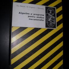 Algoritmi si programe pentru analiza mecanismelor - C. Pelecudi