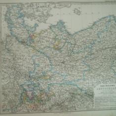 Harta  Germania de Nord - est Gotha Justus Perthes 1867 de C. Vogel