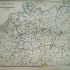 Harta  Germania Gotha Justus Perthes 1867 de C. Vogel