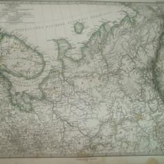 Harta Nord - estul Rusiei Gotha Justus Perthes 1866 de A. Hanemann