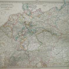 Harta Germania Gotha Justus Perthes 1866 de H. Berghaus
