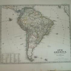 Harta America de Sud Gotha Justus Perthes 1867 de F. von Stulpnagel