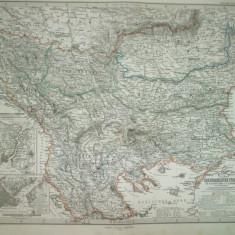 Harta Turcia Europeana Gotha Justus Perthes 1868 de A. Petermann
