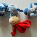 Set de jucarii ce se agata pentru patut/carucior pentru bebelusi, catifelate si zornaitoare, REDUSE ACUM!, 0-3 luni, Unisex, Multicolor