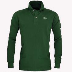 L_Bluza KAPPA POLO Originala - haine barbati - bumbac- maneca lunga - Bluza barbati, Marime: L, Culoare: Verde