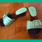 Sandale / pantofi - dama, Nr. 36, culoare verde, folositi - Sandale dama