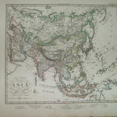 Harta Asia Gotha Justus Perthes 1867 de F. Von Stulpnagel