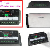 REGULATOR SOLAR MPPT. Controller solar. Regulator de incarcare Celule fotovoltaice 12v / 24v 10A. Panouri fotovoltaice