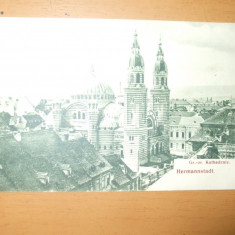 Carte postala Sibiu Hermannstadt Gr or Kathedrale 1907