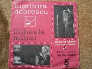 luminita dobrescu mihaela mihai disc 7 single vinyl cerbul de aur muzica usoara